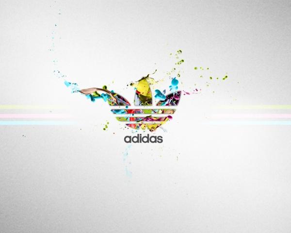 Adidas, фирма, цвета, спорт, логотип, серый фон, полосы HD обои на рабочий стол.