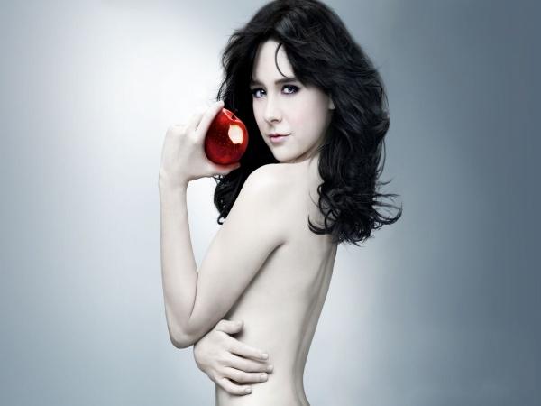 Дівчина з яблуком
