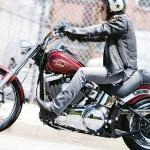 Мотоцикліст на Харлеї