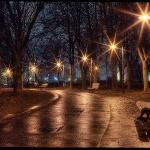 Паркова алея ввечері
